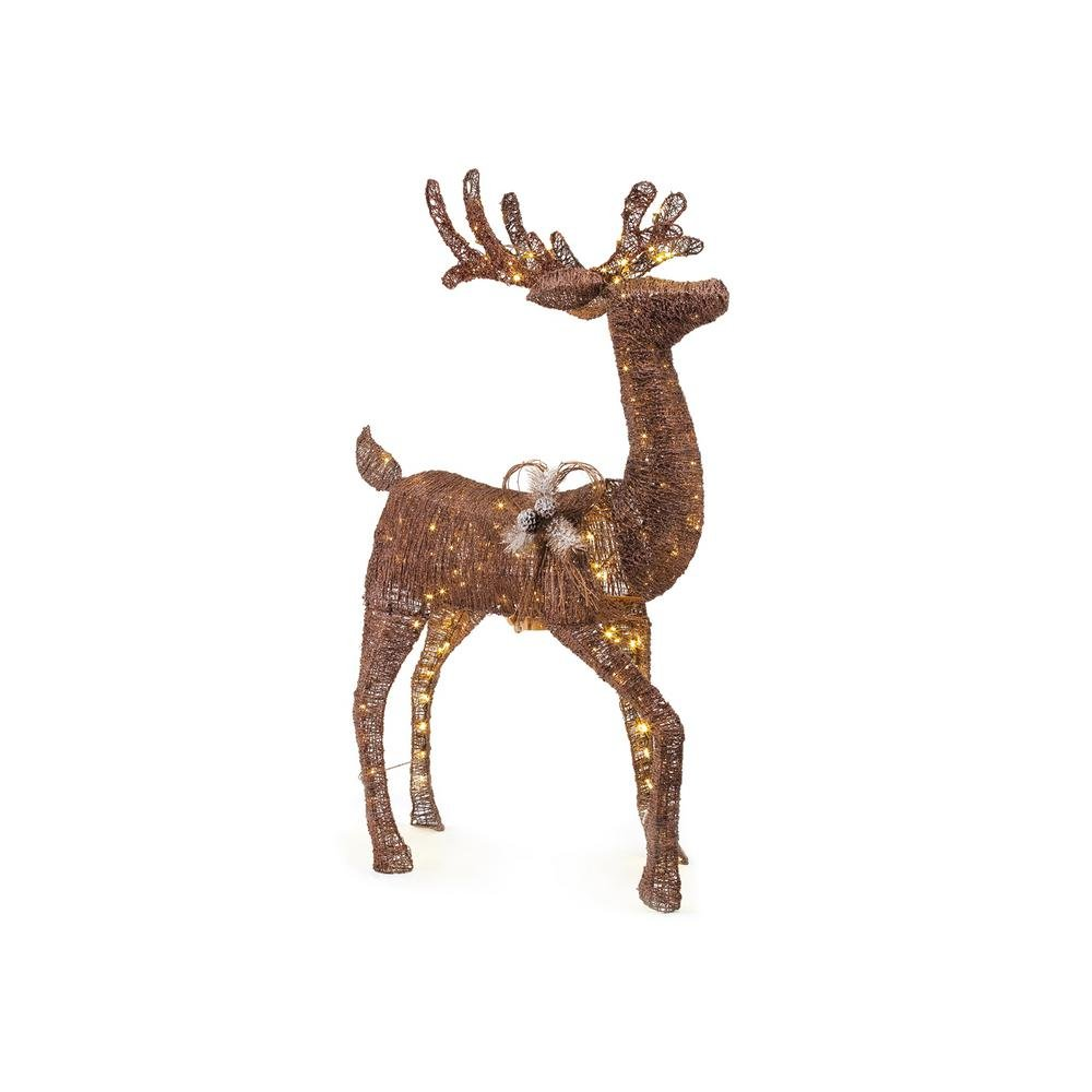 60IN 200L LED ANIMATED BROWN PVC DEER by Home Accents Holiday