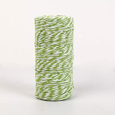 NewTrend 328 Feet Cotton Twine for DIY Craft, Packing, Decoration and Gardening, 3Ply Durable String and Eco-Friendly(Apple.Green) : Office Products