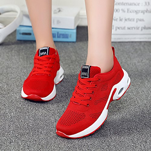 Fitness Air Sneakers UK8 Pink 42 Trainers White Black Up UK2 1 Womens Choose pls Red Athletic Ladies Sports Running Shoes 35 slim Lace Red Model 2 Size 5 up 4cm Purple I7xqxtwX