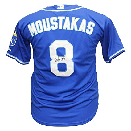 wholesale dealer 5a0bb 7cafd Mike Moustakas Autographed Signed Kansas City Royals Jersey ...