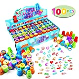 100 Pieces Assorted Stamps for Kids Self-ink Stamps (50 DIFFERENT Designs, Emoji Stampers, Dinosaur Stampers, Zoo Safari Stampers) for Party Favor, School Prizes, Teacher Stamps Easter Egg Stuffer