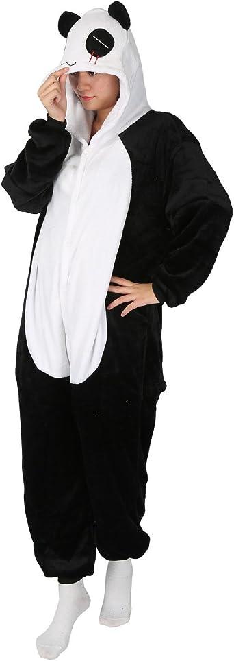 Panda Carnaval Disfraces Pijama Animales Disfraces Outfit Animales Dormir Traje Animales OneSize Sleepsuit con Capucha Adultos Unisex de Forro Polar ...