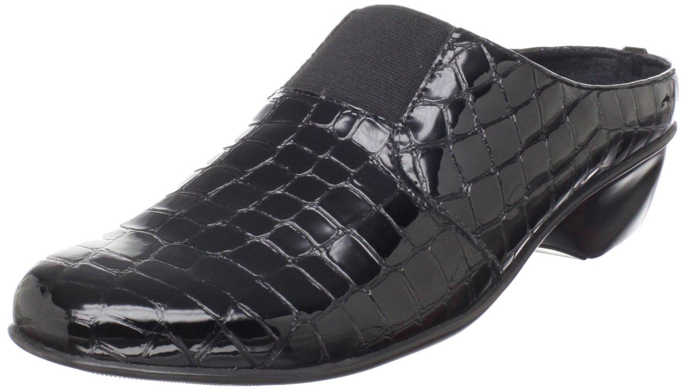 Walking Cradles Women's Tori Clog,Black Croc Patent,7 N US