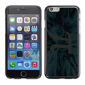 TopCaseStore / la caja del caucho duro de la cubierta de protección de la piel - chisla ryad stroka pi matematika - Apple iPhone 6