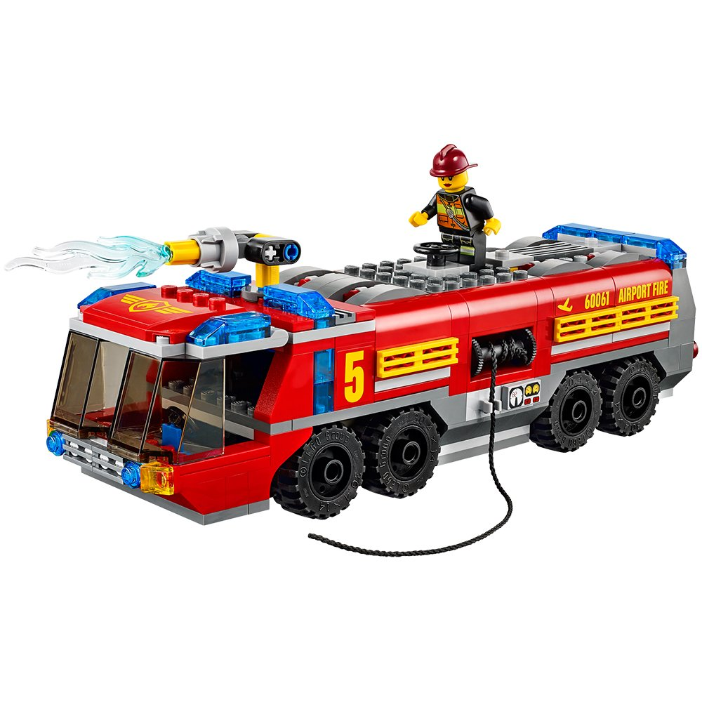 Aeroporto Lego : Lego city great vehicles airport fire truck amazon