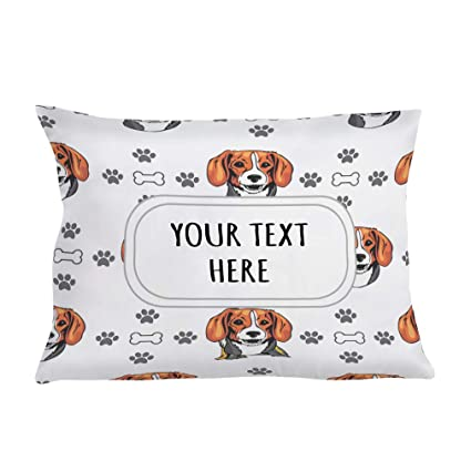 84ba04402085 Amazon.com: Style In Print Personalized Pillow Case Kerry Beagle Dog ...