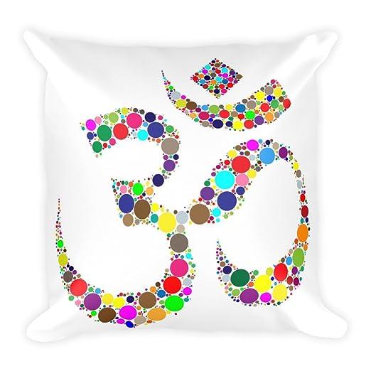 Pegatina Om Símbolo sobre blanco cojín 45 x 45 cm, yoga ...