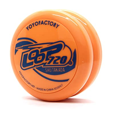 YoYoFactory Loop 720 - Looping Yo-Yo -Shu Takada Edition - John Ando Signature Yo-Yo (Orange with Blue Print): Toys & Games