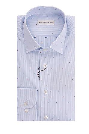 f356a68f94 Etro Camicia Bianca - Celeste, Uomo.: Amazon.it: Abbigliamento