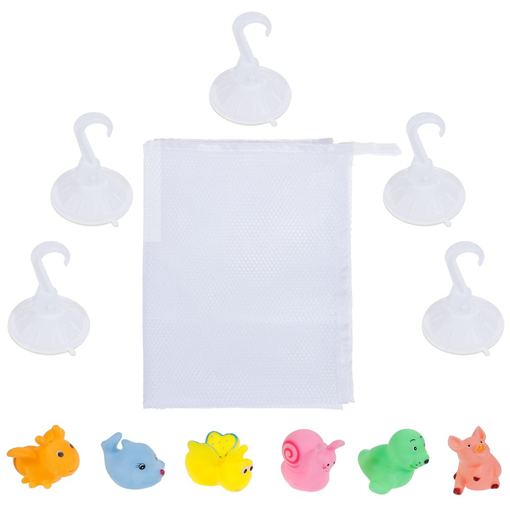Rovtop Kids Baby Bath Toys Storage Bag with 5 Suction Cups and 6 | eBay