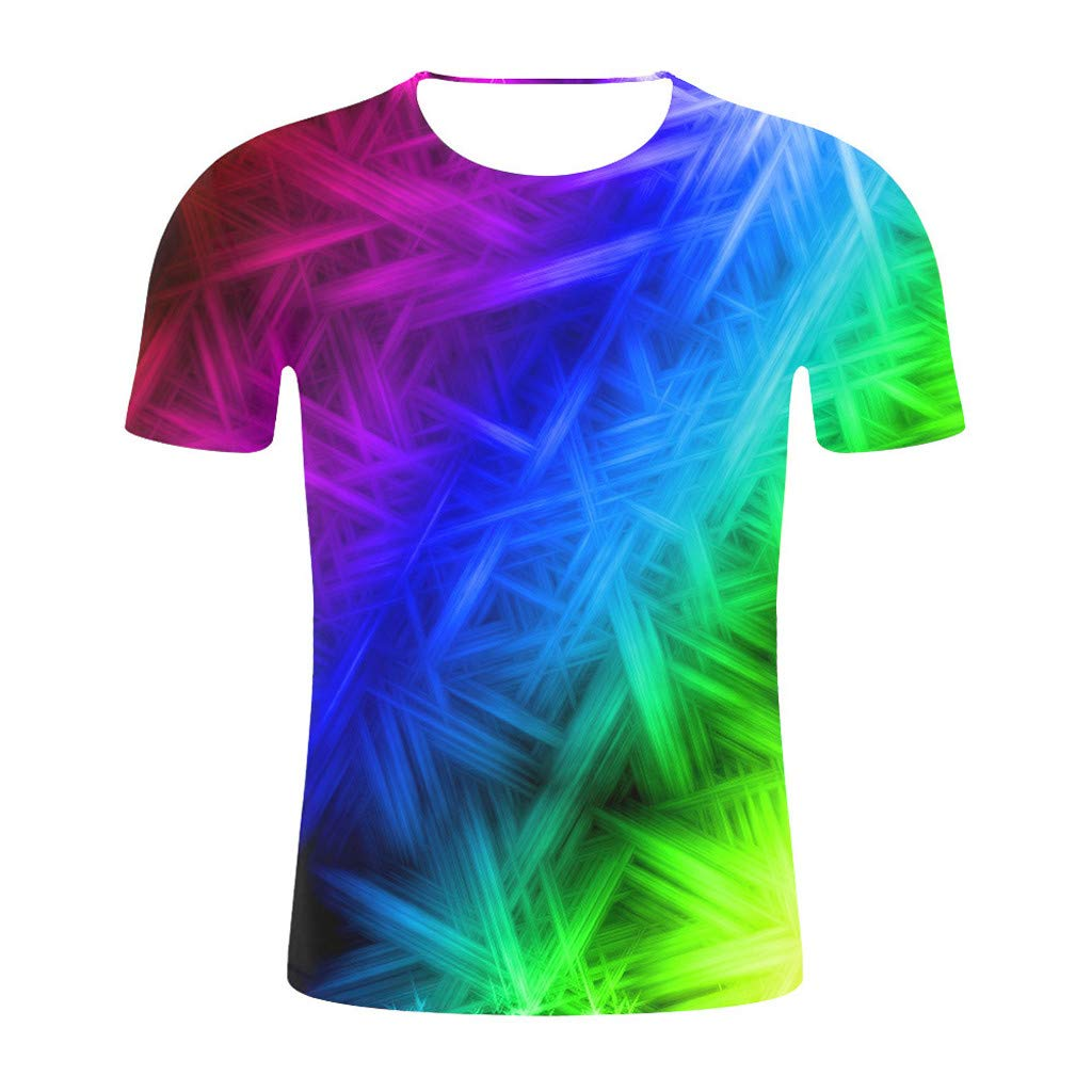 ZOMUSAR 2019 Newest Summer Style Fashion Print Short Sleeved Tees Men Multicolor T-Shirt for Men Blue by ZOMUSAR