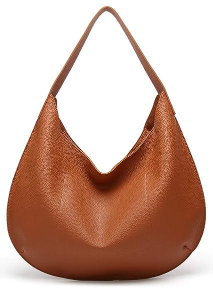 0fa93396d76a Covelin Womens Soft Leather Tote Shoulder Bag Lady Designer Casual Large  Handbag