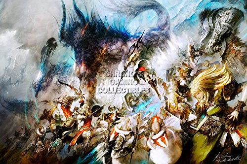 "CGC Huge Poster - Final Fantasy XIV A Realm Reborn PS3 PS4 XBOX 360 PC - FXIV002 (24"" x 36"" (61cm x 91.5cm))"