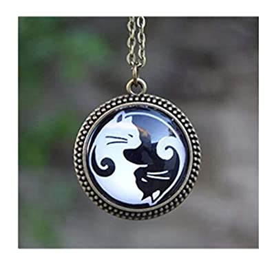Yin y Yang y Yin Yang gatos collar, collar, gato amante regalo: Amazon.es: Joyería