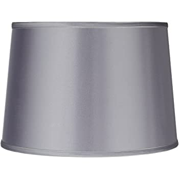 Silver Lamp Shades Awesome Sydnee Satin Light Gray Drum Lamp Shade 60x60x60 Spider