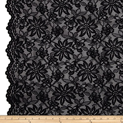 TELIO Izabel Lace Black Fabric by The Yard