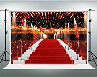 Amazon Com Red Carpet Backdrops Gesen 10x7ft Flashing Lights Ribbon Celebration Photography Background For Wedding Or Awards Ceremony Photo Studio Shooting Props Lxge002 Camera Photo