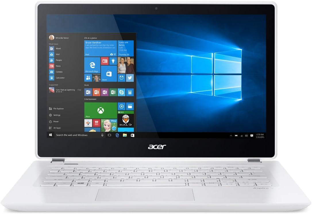 Acer Aspire V 13 V3-372T-5051 13.3-inch Full HD Touch Notebook - Platinum White (Intel i5, 6GB RAM, 256GB SSD, Windows 10)