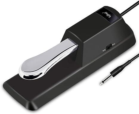 Pedal de sostenido para teclado, pedal de sostenido universal Mugig para Yamaha, Roland, Casio, korg, teclado MIDI y piano digital: Amazon.es: Instrumentos musicales