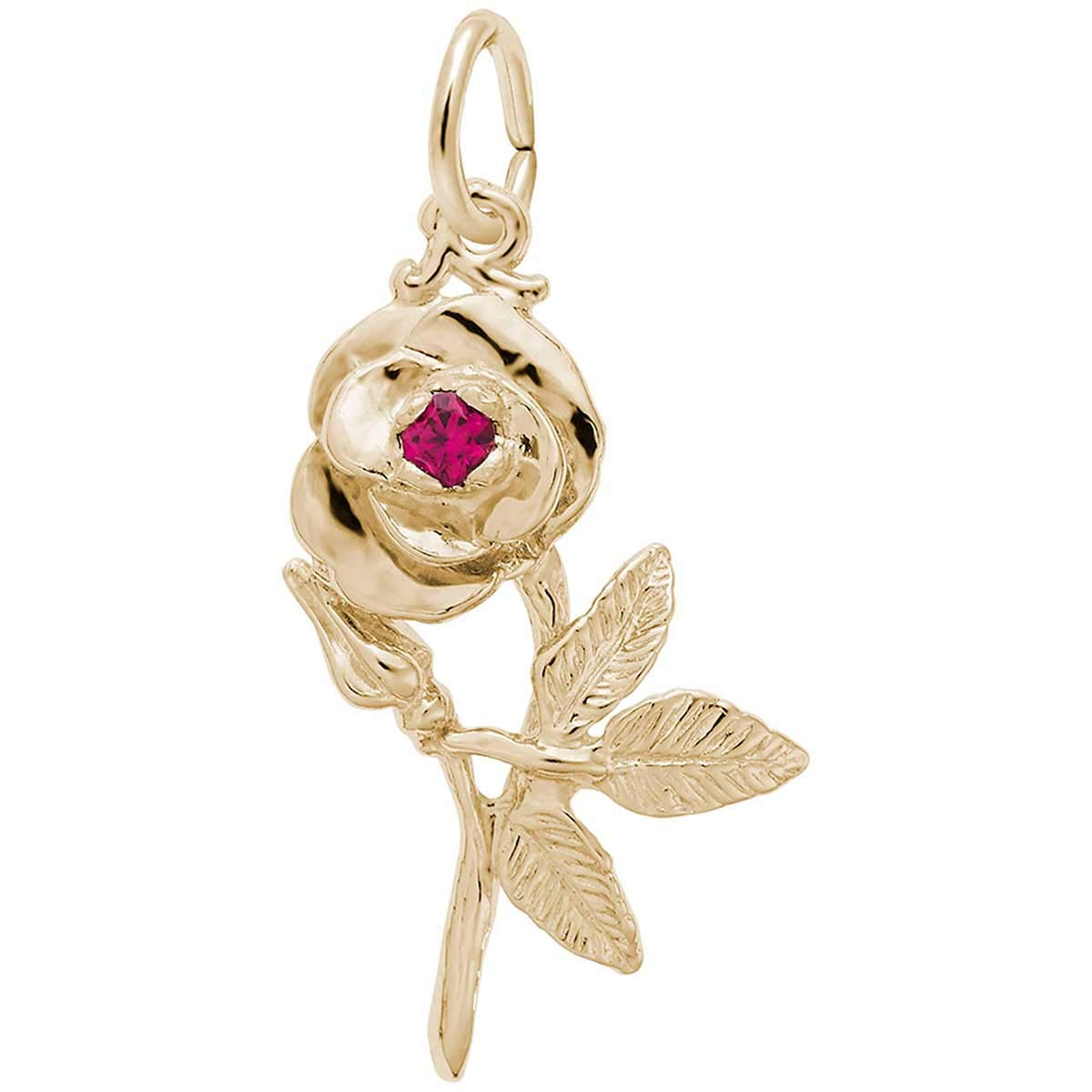 Rembrandt Charms Rose Charm, 14K Yellow Gold