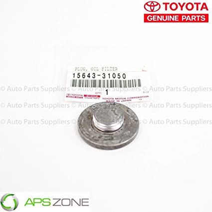 Genuine OEM Toyota New Oil Filter Housing Cap Plug 15620-31060 15643-31050