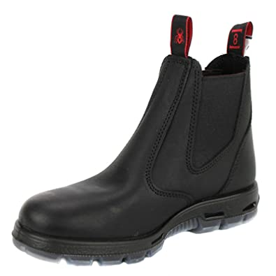 2ef62baab5f RedbacK Men's Work Boots UBBK Black Easy Escape Chelsea Bobcat Slip On Non  Steel Toe