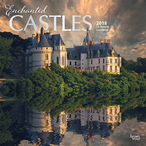 Enchanted Castles 2018 12 x 12 Inch Monthly Square Wall Calendar with Foil Stamped Cover, Travel Castles Places (Multilingual Edition)