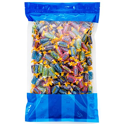(Bulk Jolly Rancher - 7 lbs in a Resealable Bomber Bag - Assorted 5 Flavors!!!! - Party Size - Perfect for Office Candy Bowls - Wholesale - Vending Machines -)