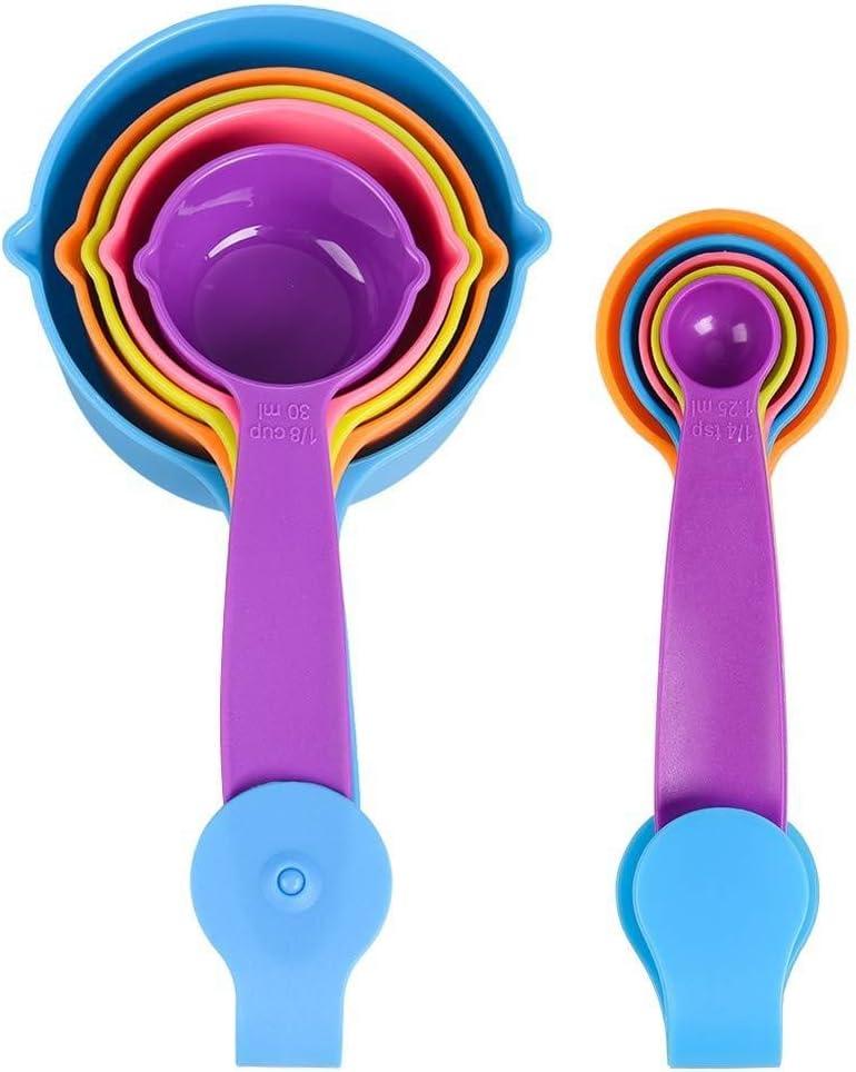 LLS 10pcs Cucharas De Medir Apilables, Pequeñas Cucharas De Plástico For Hornear Y Cocinar 0520