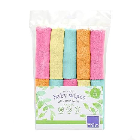 Bambino Mio, toallitas para bebé reutilizables, paquete de 10uds, frambuesa
