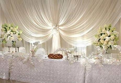 Backdrop Wedding 40 Ft White Sheer Wedding Backdrop Draping Voile Panel 10 Ft X 40 Ft