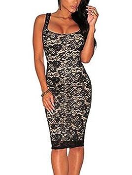 90b62404 Nuevas damas de encaje negro wipods desnuda bodycon mini vestido club  confección 8 10 12 tamaño bailarina: Amazon.es: Deportes y aire libre
