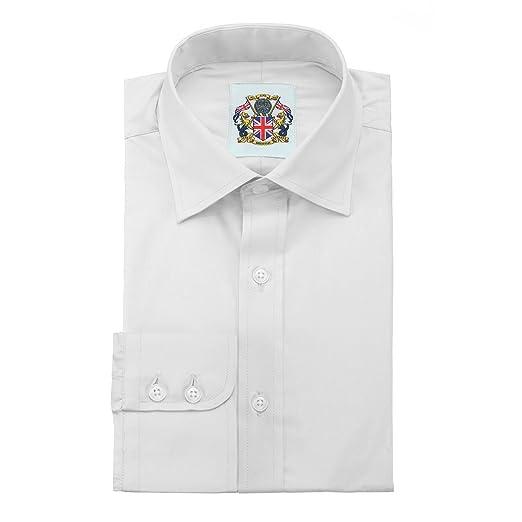 Camisa de manga larga para Hombres, Modelo London Liso Clásico ...