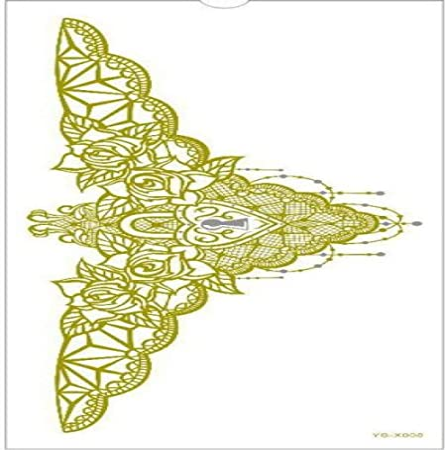 ljmljm 4pcs Impermeable Etiqueta engomada del Tatuaje Mandala ...