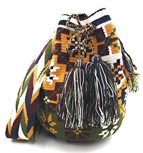 Wayuu Mochila, Bolsos Colombianos Artesanales Con Motivos Tribales, Tanto Para Mujer Como Para Hombre. Wayuu Backpack, Colombian Craft Bags With Tribal Motifs, Both For Women As For Men. Anorí Anori