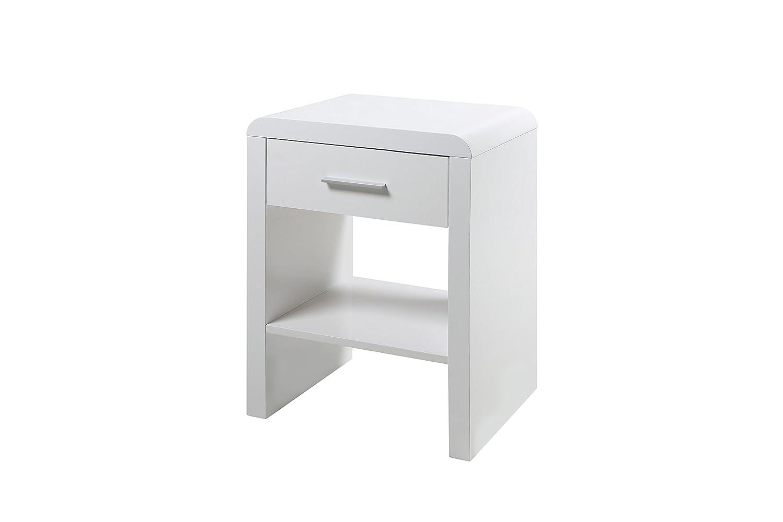 AC Design Furniture Nachttisch Lucas, B  45 x T 35 x H  59 cm, MDF, Weiss