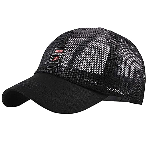 abcf640a353 Image Unavailable. Image not available for. Color  URIBAKE Fashion Women Men  Baseball Cap Adjustable Letters Embroidery Mesh Hats Shade