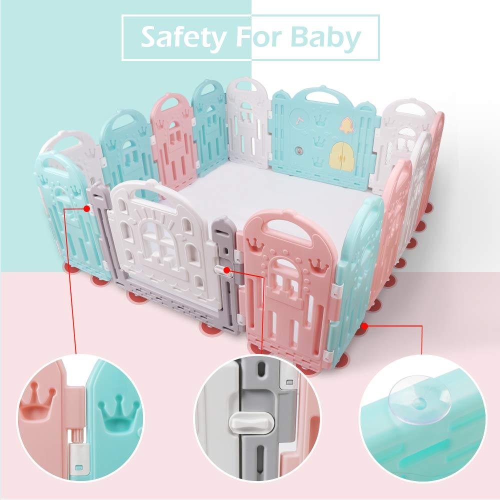Amazon.com: BAMMAX Baby Playpen, valla de bebé interior ...
