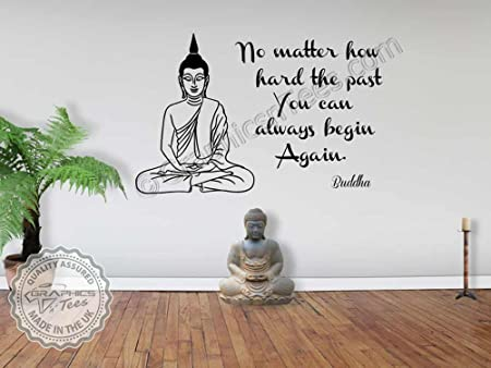 Graphics N Tees Buddha Quote Family Wall Sticker Inspirational