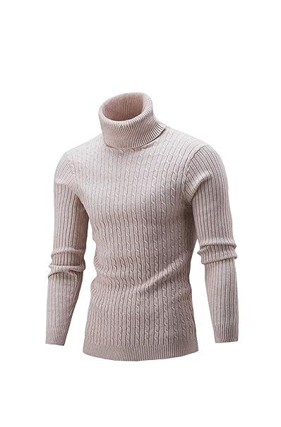 Herren Pullover mit hohem Kragen