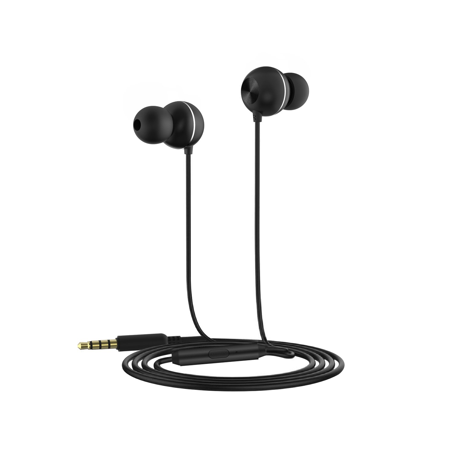 Wired Earphones with Microphone in Ear Earbuds Headphones 3D Surround Sound Noise Cancelling Good for Gaming Watching Movie for iPhone iPod iPad MP3 Samsung Android Smartphone by OAAO