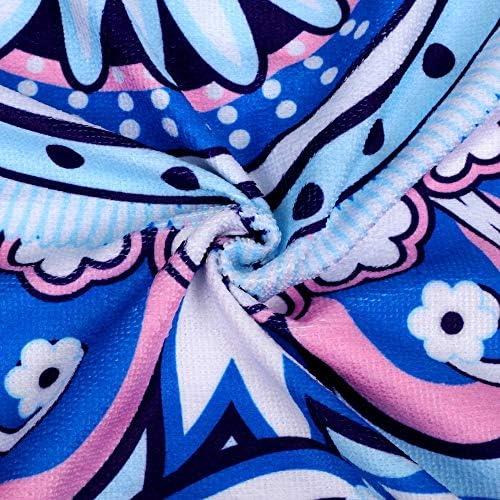 LYYN Coperta da Spiaggia Picnic Campeggio Mat Rotonda Asciugamano Sandbeach Tovaglia Stampata Pad Calico Materasso per Scialle Donna