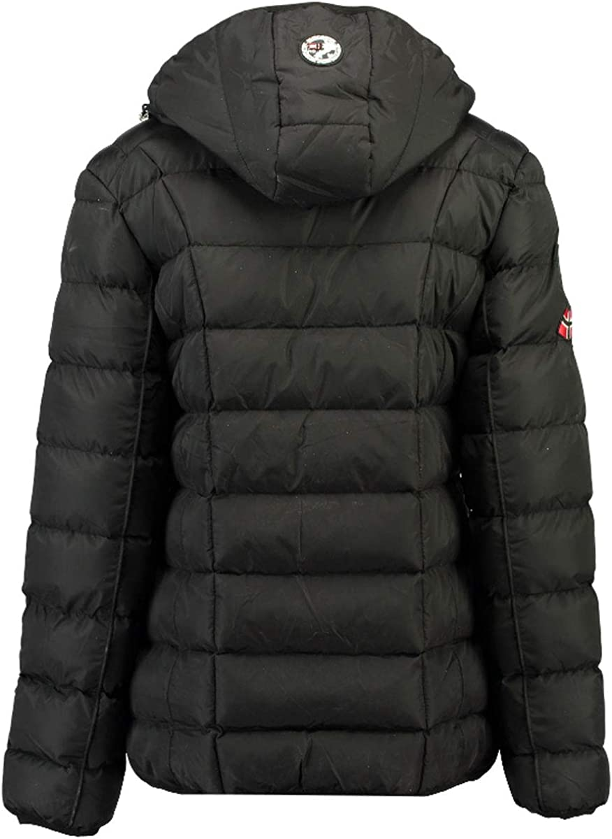 Geographical Norway Babette Parka Womens Short Down Jacket with Detachable Hood