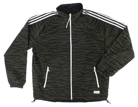 3a59c7f24 Amazon.com: adidas Mens Reversible Track Jacket Army Green XL: Clothing