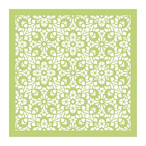 Kaisercraft IT906 Designer Template, 12 x 12, Cottage Rose Floral Lace, Green 12 x 12