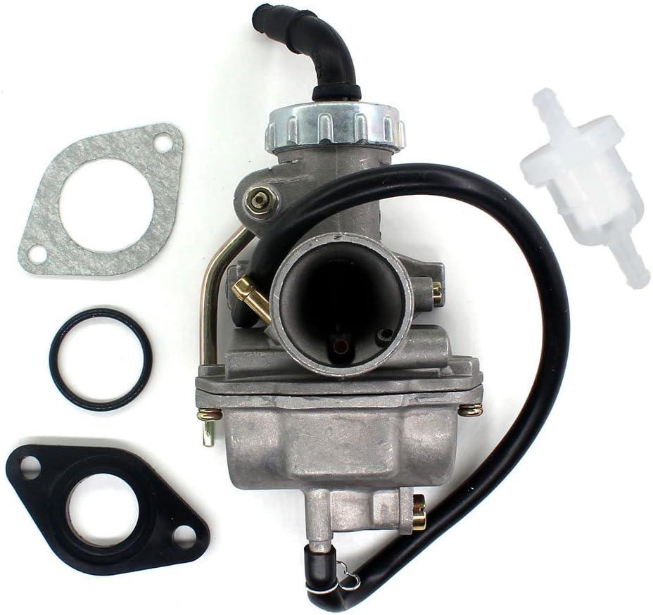 AISEN PZ20 20MM Carburetor for 50cc 70cc 90cc 110cc 125cc 135cc ATV Quad Go Kart Go Carts UTV Sunl JCL TAOTAO Coolster Baja NST Kazuma Carb Intake Gasket O Ring O-Ring Fuel Filter