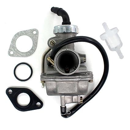 Amazon com: AISEN PZ20 20MM Carburetor for 50cc 70cc 90cc