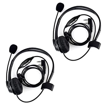5x New Walkie Talkie Earpiece Earphone For KENWOOD WOUXUN Retevis BF-UV5R Radios