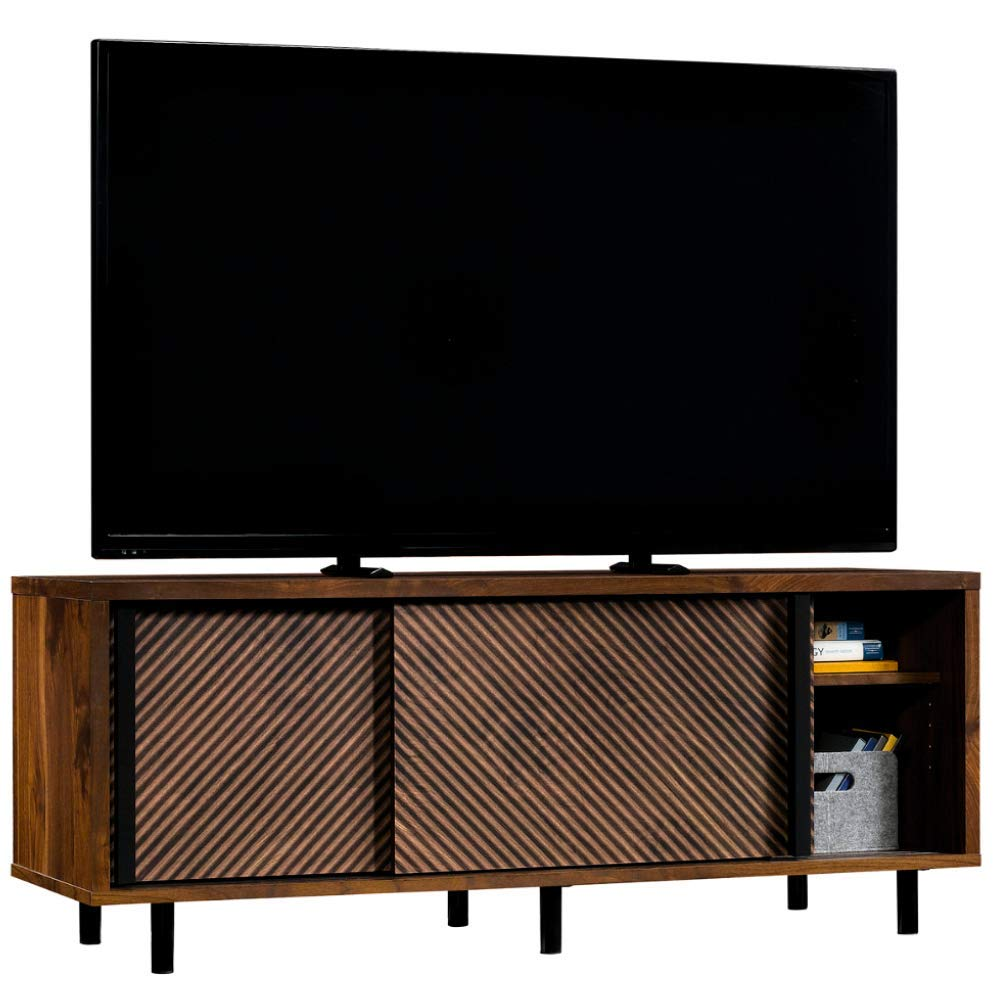 Retro Tv Stand Console For TVs up to 60''Modern Mid-Century Entertainment Media Center 2 Sliding Doors Adjustable Shelves Cabinet Storage Organizer Audio Video Components Gaming & eBook by BADA shop by BS