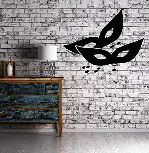 Funny-mural Wall Decal Wall Written Vinyl Wall Decals Quotes Sayings Words Art Deco Lettering Masks Masquerade Theatre Secret ()